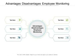 Advantages Disadvantages Employee Monitoring Ppt Powerpoint Presentation Gallery Deck Cpb