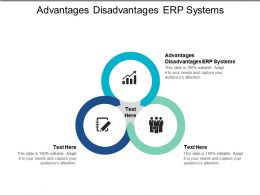 Advantages Disadvantages ERP Systems Ppt Powerpoint Presentation Diagram Lists Cpb