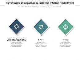Advantages Disadvantages External Internal Recruitment Ppt Powerpoint Presentation Icon Cpb