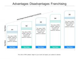 Advantages Disadvantages Franchising Ppt Powerpoint Presentation Model Slides Cpb