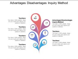Advantages Disadvantages Inquiry Method Ppt Powerpoint Presentation Slides Cpb