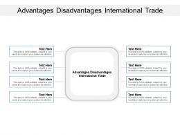 Advantages Disadvantages International Trade Ppt Powerpoint Presentation Infographics Cpb