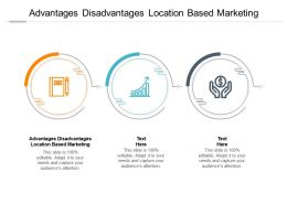 Advantages Disadvantages Location Based Marketing Ppt Powerpoint Presentation Model Guidelines Cpb