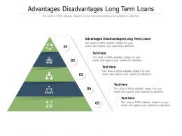 Advantages Disadvantages Long Term Loans Ppt Powerpoint Presentation Inspiration Cpb