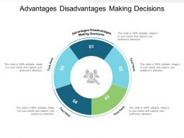 Advantages Disadvantages Making Decisions Ppt Powerpoint Presentation Professional Cpb