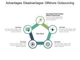 Advantages Disadvantages Offshore Outsourcing Ppt Powerpoint Presentation Gallery Information Cpb