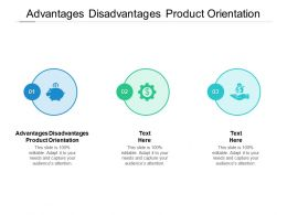Advantages Disadvantages Product Orientation Ppt Powerpoint Presentation Icon Image Cpb