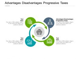 Advantages Disadvantages Progressive Taxes Ppt Powerpoint Presentation File Maker Cpb