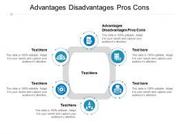 Advantages Disadvantages Pros Cons Ppt Powerpoint Presentation Slides Graphics Design Cpb