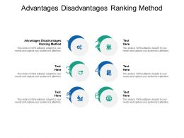 Advantages Disadvantages Ranking Method Ppt Powerpoint Samples Cpb