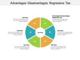 Advantages Disadvantages Regressive Tax Ppt Powerpoint Presentation Gallery Designs Download Cpb