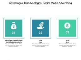 Advantages Disadvantages Social Media Advertising Ppt Powerpoint Presentation Ideas Microsoft Cpb