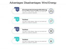Advantages Disadvantages Wind Energy Ppt Powerpoint Presentation Show Backgrounds Cpb