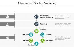 Advantages Display Marketing Ppt Powerpoint Presentation Smartart Cpb