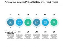 Advantages Dynamic Pricing Strategy Over Fixed Pricing Ppt Powerpoint Presentation Icon Demonstration Cpb
