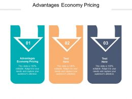 Advantages Economy Pricing Ppt Powerpoint Presentation Summary Template Cpb