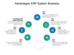 Advantages ERP System Business Ppt Powerpoint Presentation File Portrait Cpb