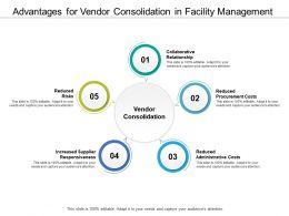 Advantages For Vendor Consolidation In Facility Management
