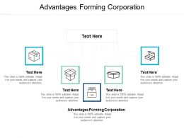 Advantages Forming Corporation Ppt Powerpoint Presentation Ideas Tips Cpb