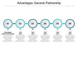 Advantages General Partnership Ppt Powerpoint Presentation Infographic Template Cpb
