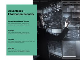 Advantages Information Security Ppt Powerpoint Presentation Infographics Elements Cpb