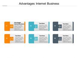 Advantages Internet Business Ppt Powerpoint Presentation Infographics Layout Ideas Cpb