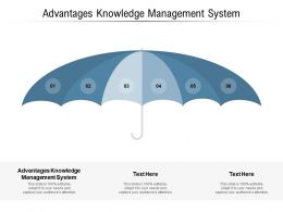 Advantages Knowledge Management System Ppt Powerpoint Presentation Slides Mockup Cpb