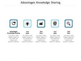 Advantages Knowledge Sharing Ppt Powerpoint Presentation File Model Cpb