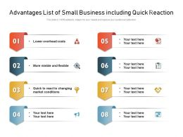 Advantages List Of Small Business Including Quick Reaction