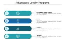 Advantages Loyalty Programs Ppt Powerpoint Presentation Infographic Cpb