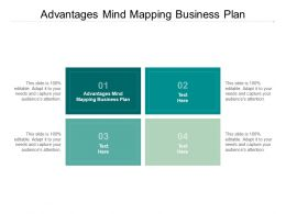 Advantages Mind Mapping Business Plan Ppt Powerpoint Presentation Images Cpb