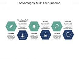 Advantages Multi Step Income Ppt Powerpoint Presentation Icon Example Cpb