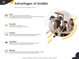 Advantages Of Ansible Agentless Flexible Ppt Powerpoint Presentation Templates