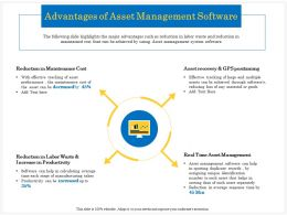 Advantages Of Asset Management Software Identification Ppt Powerpoint Presentation Ideas
