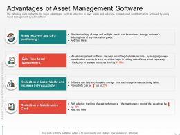 Advantages Of Asset Management Software Sorting Ppt Powerpoint Presentation Slides Download