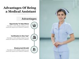 Advantages Of Being A Medical Assistant