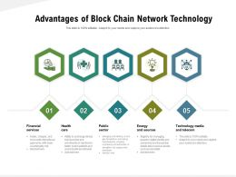 Advantages Of Block Chain Network Technology
