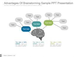 Advantages Of Brainstorming Sample Ppt Presentation