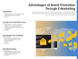 Advantages Of Brand Promotion Through E Marketing