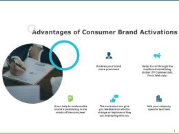Advantages Of Consumer Brand Activations About Us Social Ppt Powerpoint Presentation Ideas Skills