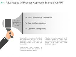Advantages Of Process Approach Example Of Ppt