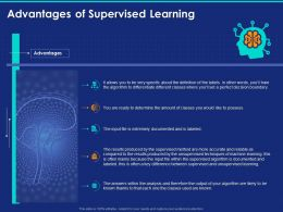 Advantages Of Supervised Learning Ppt Powerpoint Presentation Pictures