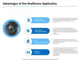 Advantages Of The Healthcare Application Data Searches Ppt Powerpoint Presentation Files