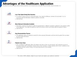Advantages Of The Healthcare Application Process Ppt Powerpoint Model