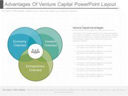 Advantages Of Venture Capital Powerpoint Layout