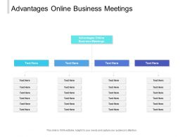 Advantages Online Business Meetings Ppt Powerpoint Presentation Show Summary Cpb