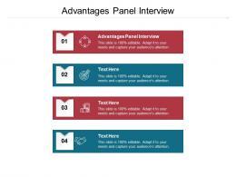 Advantages Panel Interview Ppt Powerpoint Presentation Portfolio Professional Cpb
