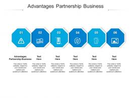 Advantages Partnership Business Ppt Powerpoint Presentation Gallery Themes Cpb