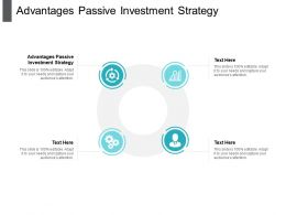Advantages Passive Investment Strategy Ppt Powerpoint Presentation File Summary Cpb