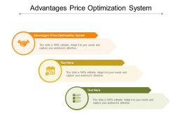 Advantages Price Optimization System Ppt Powerpoint Presentation Summary Portrait Cpb
